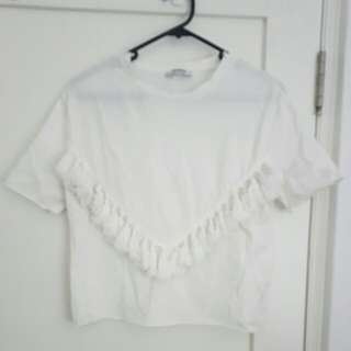 Cream Tassel T shirt