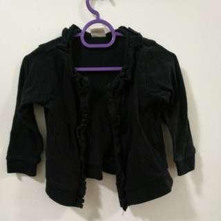 H&M black cardigan ruffle