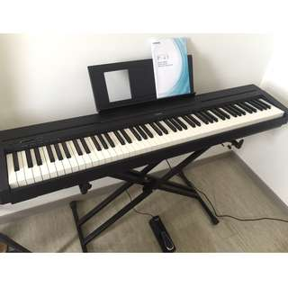 Yamaha P45 Keyboard - 88 Keys with accessories included (pre-owned)