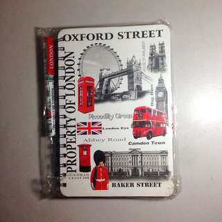 Oxford street notebook and pen