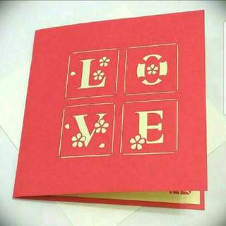 Instock: Pop Up Card RED Love Heart Mother's Day / Valentines / Anniversary / Engagement