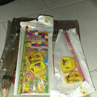 Thick wooden pencil and party going stationaries