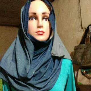 Hijab instan gradasi glitter