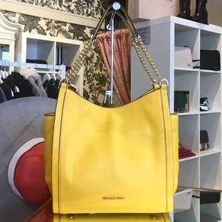 MK Michael Kors yellow leather bag