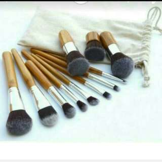 TERMURAH! WITH POUCH BAMBOO BRUSH/ BRUSH SET ISI 11 HIGH QUALITY. READY.