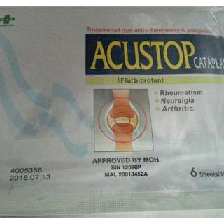 Acustop Patch 1 Pack (6 pieces)