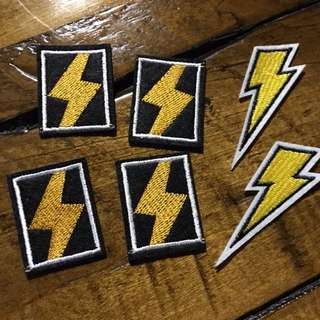 Iron on patch lightning