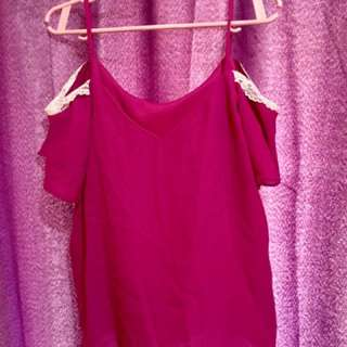 Blouse (color hot pink)