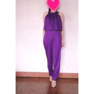 Claire Jumpsuit Purple