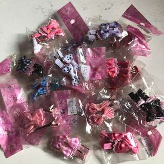 (TO CLEAR) C85. Hair Clip with bow (In pair) (Hair Accessories)