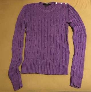 Moving sale 💃 Ralph Lauren cable knit cotton top XS