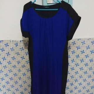 Contempo Blue & Black Dress