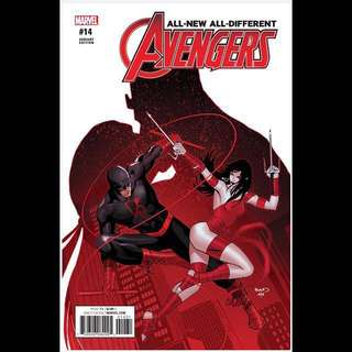 ALL NEW, ALL DIFFERENT AVENGERS #14 (2016) Paul Renaud Variant