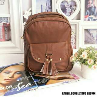RANSEL DOUBLE STUD BROWN