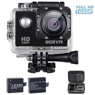 261 (Brand New) ODRVM WiFi Action Camera Full HD 1080P Underwater Camera