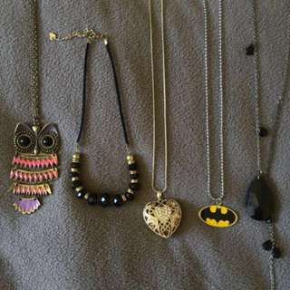 Necklaces (you can buy separately)