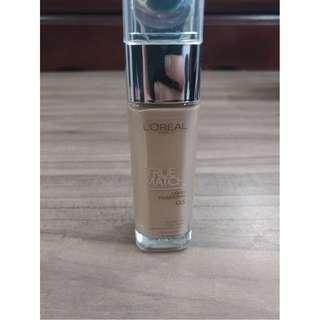L'Oreal Paris True Match Liquid Foundation 30ml (G5 Gold Cream)