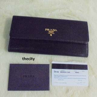 AUTHENTIC PRADA LONG LEATHER WALLET