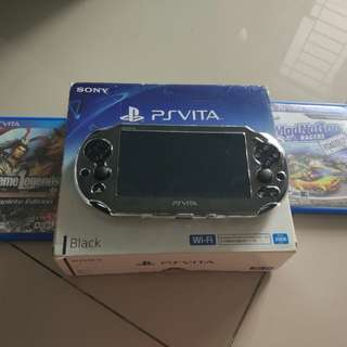 Sony PS Vita Slim Black + 2 Games