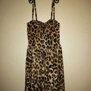 Leopard Corset Dress