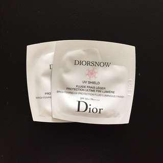 Dior Diorsnow UV Shield Brightening UV Protection Fluid Luminous Finish SPF 50+/PA++++ 1ml
