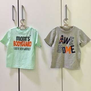 2pieces Boys T-shirt for 2 years old