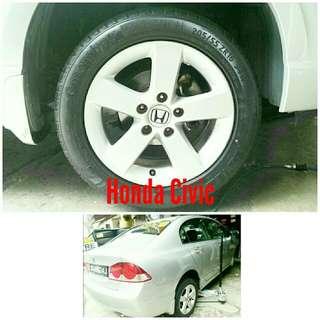 Tyre 205/55 R16 Membat on Honda Civic 🐓 Super Offer 🙋