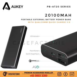 Aukey PB-AT20 20100mAh Portable External Battery Power Bank with Qualcomm Quick Charge 3.0