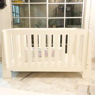 🆕 MAMAS PAPAS SLEIGH POPLARWOOD BABY COT BED with MATTRESS