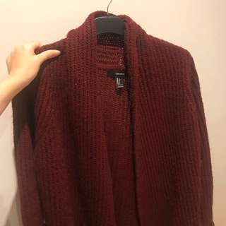Forever 21 Maroon Cardigan