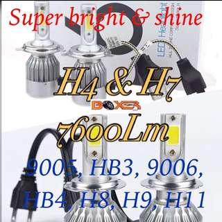 7600Lm LED Headlight/Fog