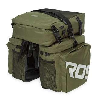 ROSWHEEL 37L WATER RESISTANT DURABLE 3 IN 1 BICYCLE REAR PANNIER BAG