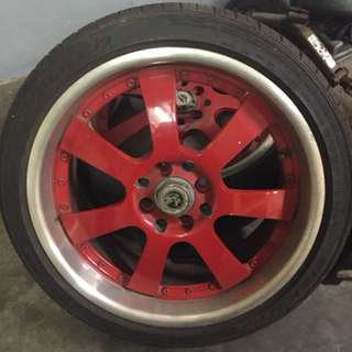 Sport rim 17' with tire 90%