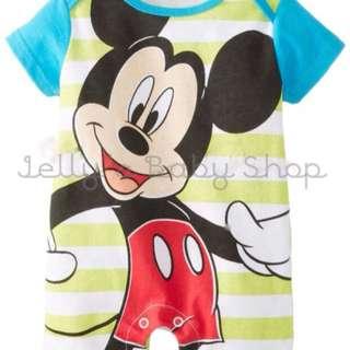Mickey and minnie kids romper onesies