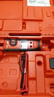 Milwaukee 2207-20 12v  Fork Meter TRMS 錶 開口鉗表 帶原廠膠盒 淨機