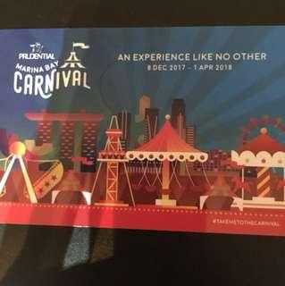 Marina Bay carnival card with value