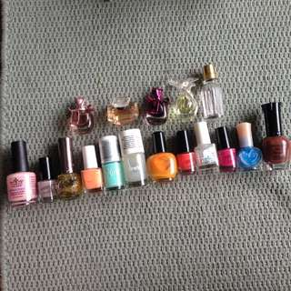 Nail Polishes and perfume