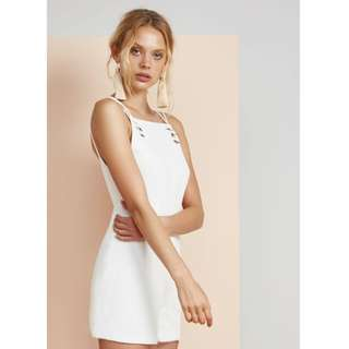 NEW with tags Finders Keepers 'Alexey' white cross back playsuit sz S or AU 8