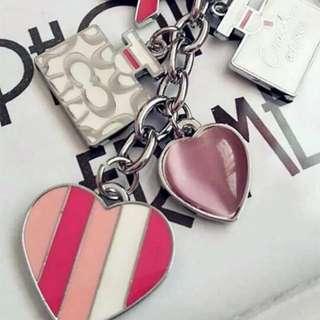Coach pink ❤️❤️key ring