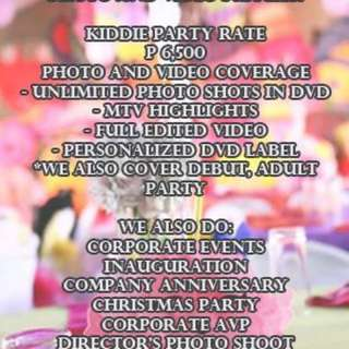 Photo and video service for only 6500