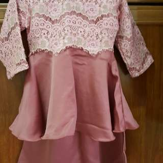 Peplum dusty pink