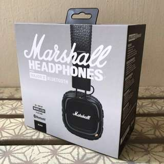 BRAND NEW: MARSHALL MAJOR 2 BLUETOOTH WIRELESS WITH MIC II IN SEALED RETAIL BOX