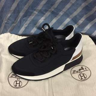 2500$only Hermes sneakers Myles Miles women size 37.5 black
