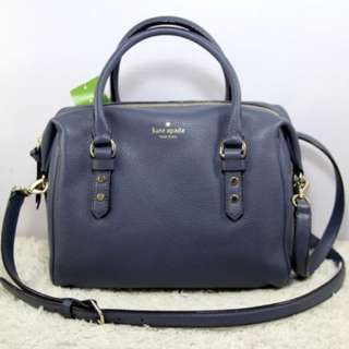 Kate Spade Julianne Mulberry Street Leather Satchel Handbag-DIVER BLUE