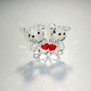 捷克 Preciosa 小熊水晶擺設 🇨🇺🐻💎