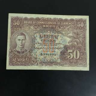Singapore 50c old  banks notes