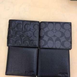 Authentic Coach men Wallet purse Pouch
