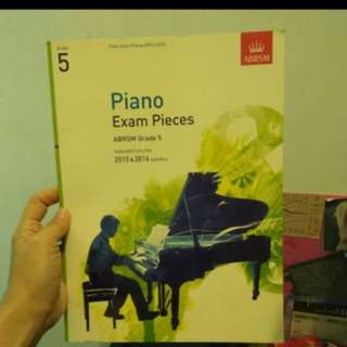 Grade 5 Piano Exam Book