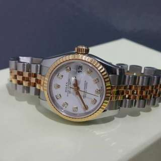Rolex Ladies Datejust 179173 diamond full set Hourglass