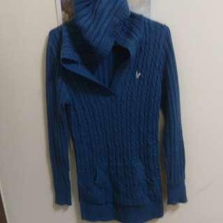 🚚 藍色連帽長裙